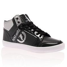 quality design fd5e2 31618 Mens Ecko Unltd Clifton Patent Panel Hi Top Lace Up Trainers Shoes