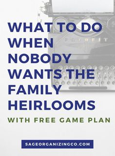 What to Do When Nobody Wants the Family Heirlooms - ways to help you declutter + downsize. Genealogy Research, Family Genealogy, Free Genealogy, Genealogy Forms, When Someone Dies, Genealogy Organization, Life Organization, Funeral Planning, Family Research