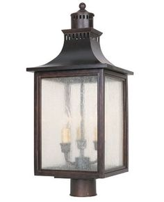 Savoy House Lighting 5-255-13  Monte Grande Collection 3-Light Outdoor Post Mount Lantern, English Bronze Finish with Pale Cream Seeded Glass by Savoy House. $193.86. From the Manufacturer                The Savoy House 5-255-13 Monte Grande Collection 3-Light Outdoor Post Mount Lantern gives a grand welcome of splendor and class for any stately address.  Designed by a member of Savoy House's diverse family of artists, this outdoor lantern partners the feeling of warmt...