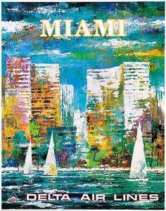 1970s Delta travel poster