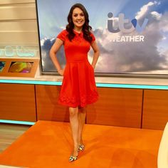 1 DAY AGO Ted Baker Red Dress, Hottest Weather Girls, Smile Pictures, Tv Presenters, Fashion Studio, Lady In Red, Fit And Flare, Celebs, Foxes