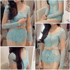 Love the turqoise color! #Kebaya