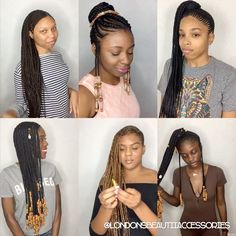 Feedin Cornrows, Ghana Braids, Loc Jewelry, Locks, Hair Beads, Braided Hairstyles, Salons, Hair Accessories, London
