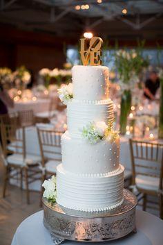 Four Tier Polka Dot Buttercream Cake | mkPhoto https://www.theknot.com/marketplace/mkphoto-west-chester-pa-246928 | Rebecca Richman