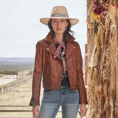 BRIDA JACKET Get Dressed, Cowboy Hats, Most Beautiful, Handsome, Leather Jacket, Zip, My Style, Jackets, Clothes