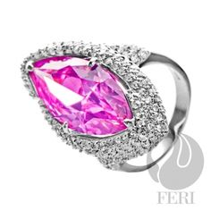 - .925 fine sterling silver - 0.1 micron natural rhodium  Set with:  - AAA white and rose cubic zirconia  Invest with confidence in FERI Designer Lines https://www.globalwealthtrade.com/vdm/display_item.php?referral=jgala&category=12&item=2972&cntylng=&page=12