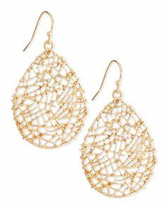 Y1SS2 Panacea Golden Open-Work Drop Earrings