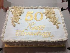 White & Gold HB Lillian Or maybe it should be blue 50th Wedding Anniversary Cakes, Diamond Anniversary, Anniversary Ideas, Anniversary Parties, Wedding Vows, Our Wedding, Wedding Cakes, 50th Cake, Face Book