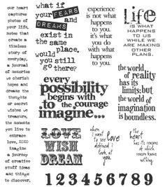 Rubber syamp set I need :-)       Tim Holtz Large Cling Rubber Stamp Set-Stuff To Say