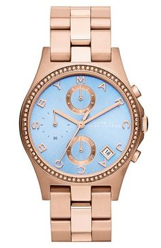 MARC BY MARC JACOBS 'Henry Glitz' Chronograph Bracelet Watch, 37mm available at #Nordstrom