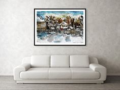Winter In The Framed Print by Cuiava Laurentiu Hanging Wire, Fine Art America, Love Seat, Framed Prints, Winter, Home Decor, Winter Time, Decoration Home, Room Decor