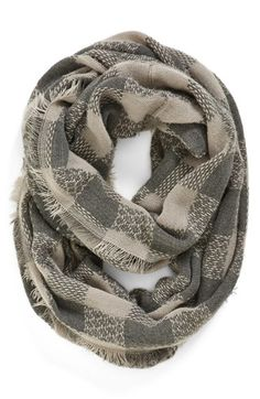 Leith Check Pattern Infinity Scarf available at #Nordstrom