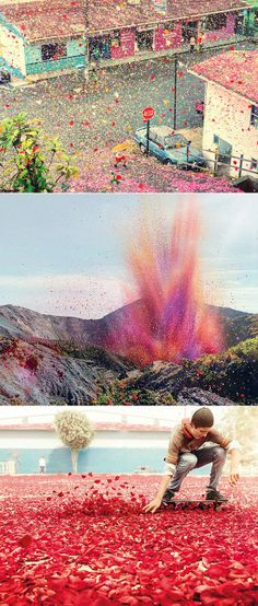 8 million flower petals over Costa Rica!