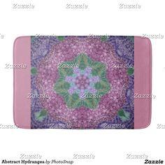 Abstract Hydrangea Bath Mat