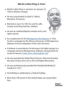 10 Best Martin Luther King Facts Images King Jr Martin Luther
