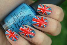 brit flag nails