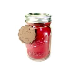 Apple Bourbon - Scented Mason Jar Candle by RhinodilloDesigns on Etsy