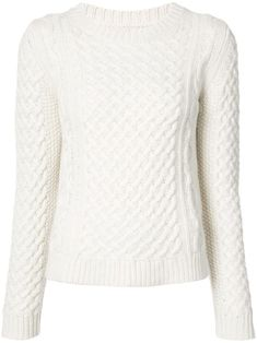 The One Sweater Fashion Girls Are Wearing on Repeat - Nili Lotan Crewneck Cable Knit Sweater Source by pinitallday - Knit Sweater Outfit, Pullover Outfit, Pullover Mode, White Knit Sweater, Cable Knit Sweaters, White Sweaters, Sweater Fashion, Cashmere Sweaters, Sweaters For Women