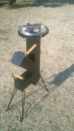 cocina cohete/rocket stove-para disco arado- chapa bifera