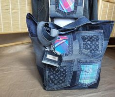 Denim Big Tote Bag Life Comfort gift Garyusha Denim Bags