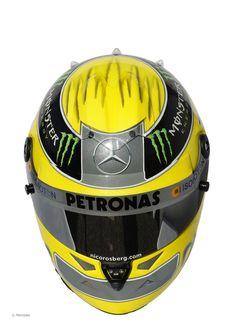 Nico Rosberg helmet, Mercedes, 2012