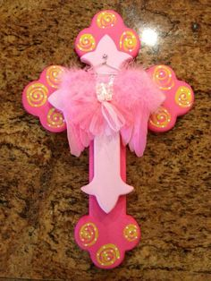 Baby girl cross by Jeanette Floyd for Sass of Ash Designs