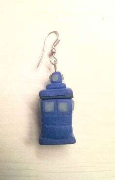 Orecchini Tardis Doctor Who, fimo - Earrings Polymer Clay - Handmade DIY