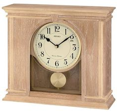 Seiko Mantel Clock -- See this great product. (This is an affiliate link and I receive a commission for the sales) Mantel Clocks, Wood Clocks, Pendulum Clock, Clock Movements, Personalized Wall Art, Home Wall Decor, Brown Wood, Creative Decor, Easy Projects