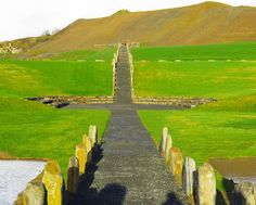 The North-South Line of Crawick Multiverse, a massive land installation carved into the hills and pastures of the Nith Valley in southwest Scotland. (Photo: Courtesy Charles Jencks)