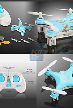 KiiToys---Quadcopter-Drone-RC-Helicopter-Quad-Copter-Toy-Micro-Mini-Nano-Size-3D-Flip-Air-Light-Show-6-Axis-Gyro-4-Channels-Radio-Control-24-ghz-100-ft-range-Smallest-QuadCopter-in-the-world-with-KiiT-0-1
