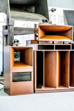 Vintage audio Speakers Audiophile Hi Fi Stereo Open Baffle Speakers, Horn Speakers, Diy Speakers, Built In Speakers, Stereo Speakers, Bluetooth Speakers, Audiophile Speakers, Hifi Audio, Audio Design