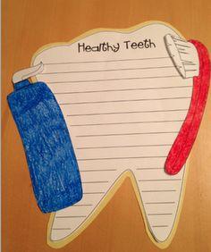 Dental Health Craft Writing Activity