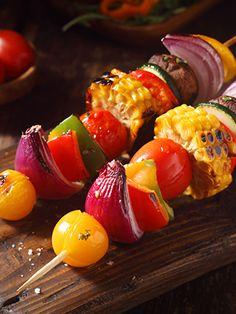 Brochettes de légumes