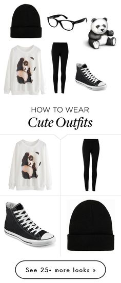 """Panda Outfit"" by im-a-ship-master on Polyvore featuring Ray-Ban, Converse, Max Studio and NLY Accessories"