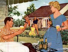 An Idyllic America: Everyone was young and prosperous, and the neighbors were friendly.