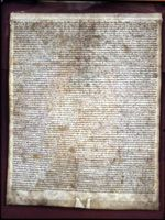 Magna Carta-my ancestors were the signers of this.