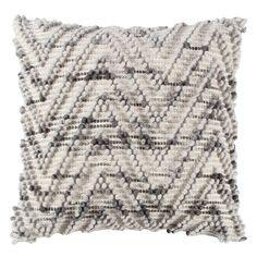 chevron throw pillow naturalgrey 20x20 rizzy home - Decorative Pillows Target