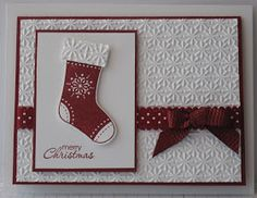 """I am continuing on with the """"Stitched Stockings"""" theme today. I made another card from this awesome set that has a matching punch! Life ca..."""