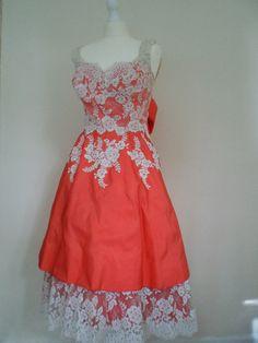 Supreme VLV Dream 1950s Dress with Huge Skirt by AGlobalVintage, $130.00