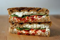 Spinach, feta & red pepper relish grilled cheese; hello lover!!!