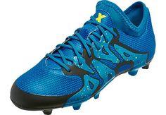 adidas Kids X 15.1 FG/AG - Solar Blue & Yellow