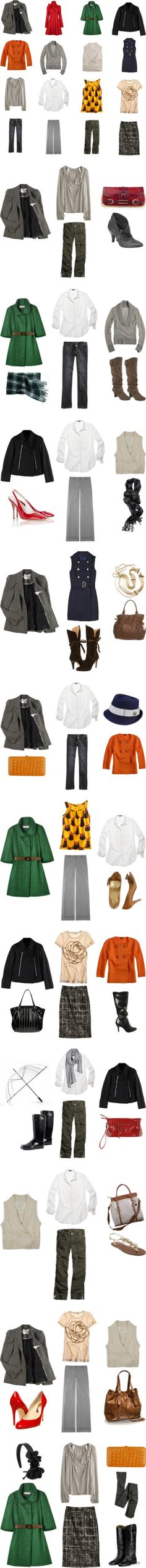 """Fall/Winter Capsule Wardrobe - 2009"" by omiru ❤ liked on Polyvore"