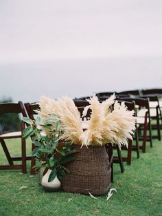 Pampas grass is the unexpected plant making its way into all kinds of weddings this year (beach, backyard, woods and more). Here, 27 photos full of pampas grass wedding decor inspo. Wedding Trends, Boho Wedding, Floral Wedding, Wedding Ceremony, Wedding Flowers, Wedding Ideas, Wedding Aisle Decorations, Wedding Arrangements, Yosemite Wedding