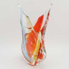 Murano Art Glass Sommerso Vase - Venetian Sunrise