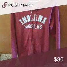 Hoddie full zip Never wore IU hoosiers full zip jacket Tops Sweatshirts & Hoodies
