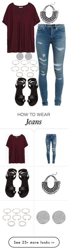 """907."" by adc421 on Polyvore featuring Zara, Yves Saint Laurent, H&M, Forever 21 and Karen Kane"