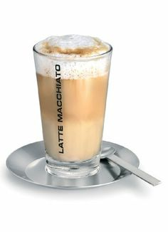 Blomus Accessories Latte Macchiato Glass Cup with Steel Coaster and Spoon 63143 by Blomus. $28.00. Cono latte macchiato set. Capacity: 350 ml. clear shapes and the high class stainless steel material make blomus living accessories an eyecatcher in every house. blomus products are modern and easy to use - trendy but also classics. a must have in every home. simple elegant and sleekbring out the barrista in you and enjoy this latte macchiato set. perfect for a relaxing morning...