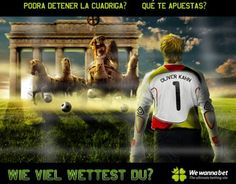 Banner para web de apuestas deportivas, para el público alemán.