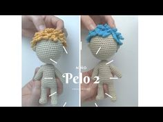 Pelo 2 - YouTube Crochet Doll Pattern, Crochet Flowers, Crochet Stitches, Diy Crafts, Make It Yourself, Dolls, Knitting, Youtube, Facebook