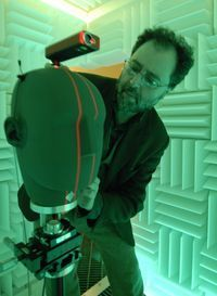 ARTICLE: Edgar Choueiri in the anechoic chamber of his 3D Audio and Applied Acoustics lab